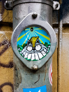 #0523 Cat in the Pipe - Sticker by SuoerFatCat, Hamburg 2019
