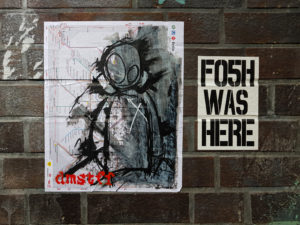 #0530 FO5H WAS HERE. dmstff, too - Paste-Ups by dmstff & Fosh
